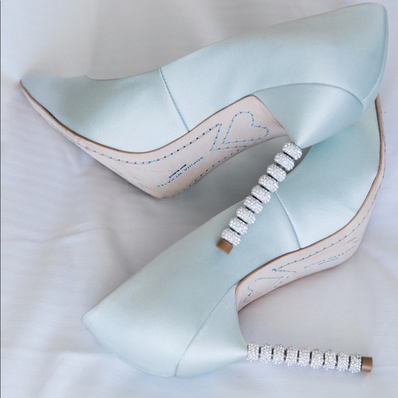 05e486480dee9c Sophia Webster ice blue bridal shoes. M 5a8b30a98290af44e3d55242